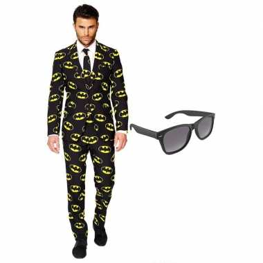 Batman heren kostuum maat 54 xxl met gratis zonnebril