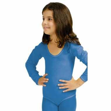 Blauwe kinder ballet feest kostuum