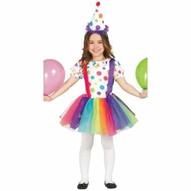 Carnavalsfeest kostuum clownsjurk voor kinderen