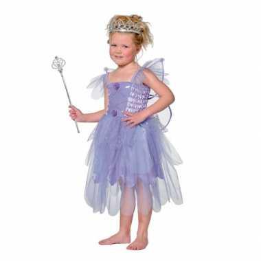Carnavalsfeest kostuum elf in de kleur paars