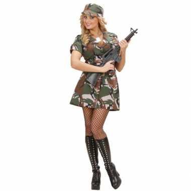 Carnavalsfeest kostuum leger jurkje