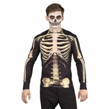 Carnavalskostuum skelet heren shirt