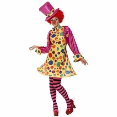 Dames clowns carnavalsfeest kostuum