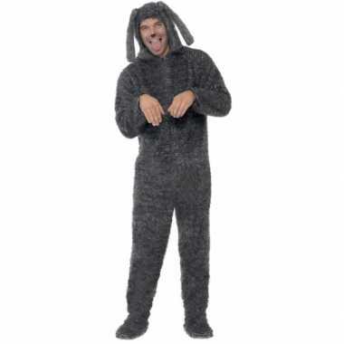 Feest kostuum hond all in one voor volwassenen