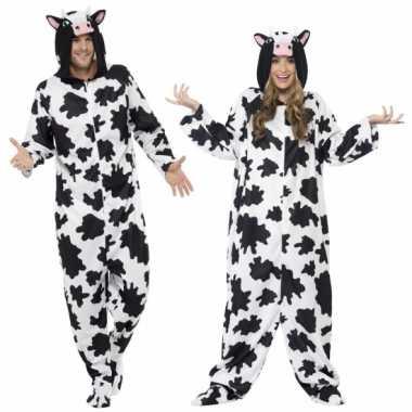 Feest kostuum koe all in one voor volwassenen