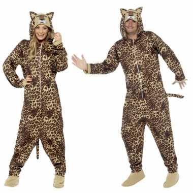 Feest kostuum luipaard all-in-one voor volwassenen