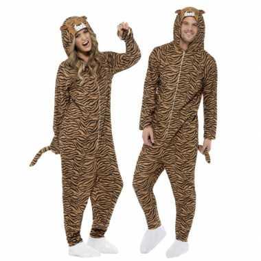 Feest kostuum tijger all-in-one voor volwassenen