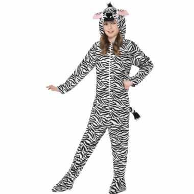 Feest kostuum zebra all in one voor kinderen