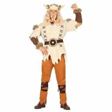 Feestfeest kostuum viking lichtbruin voor heren