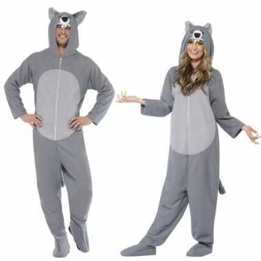 Grijze wolf feest kostuum