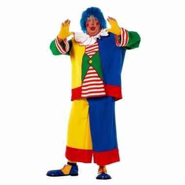 Grote maat clowns feest kostuum voor heren