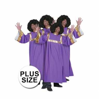 Grote maat gospel Carnavalsfeest kostuum