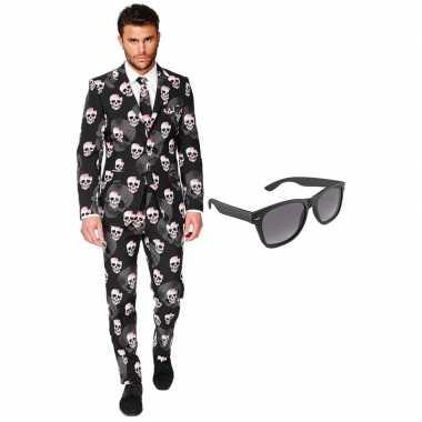 Halloween heren kostuum maat 54 (xxl) met gratis zonnebril