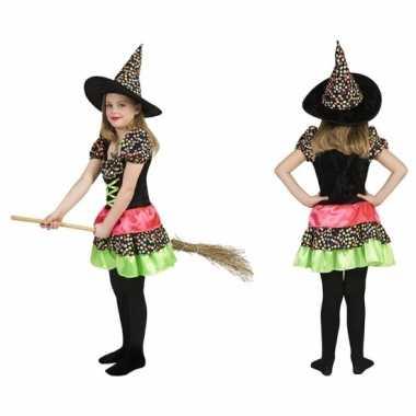 Heksen feest kostuum jurk incl. hoed