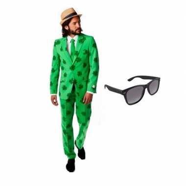 Heren kostuum sint patricks day maat 56 (3xl) met gratis zonnebr