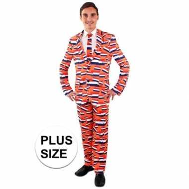 Koningsdag kostuum vlag nederland pak voor heren grote maat