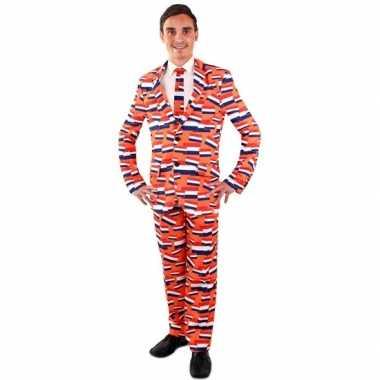 Koningsdag kostuum vlag nederland pak voor heren