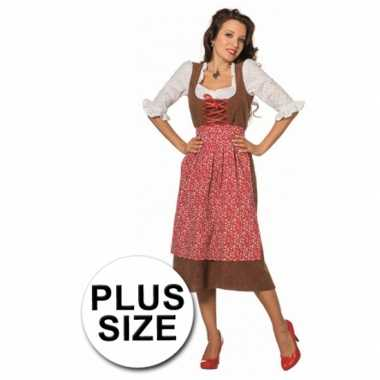 Lang tiroler grote maat kostuum voor dames