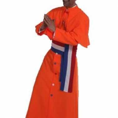 Oranje kardinaal kostuum heren