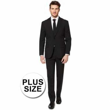 Plus size heren kostuum zwart
