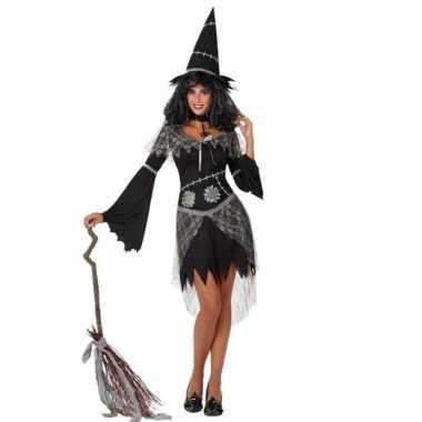 Verkleed feest kostuum zwarte heks