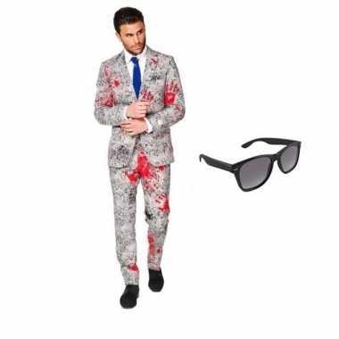 Zombie heren kostuum maat 46 (s) met gratis zonnebril