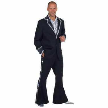 Zwart bling bling kostuum heren