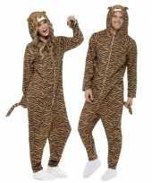 Feest kostuum tijger all in one voor volwassenen