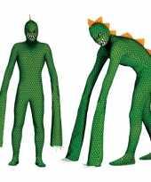 Monster reptielen kostuum met lange armen voor heren